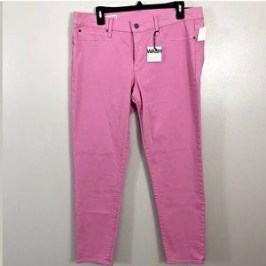 GAP 1969 Size 32 14 Legging Jean Pink Low Rise NWT